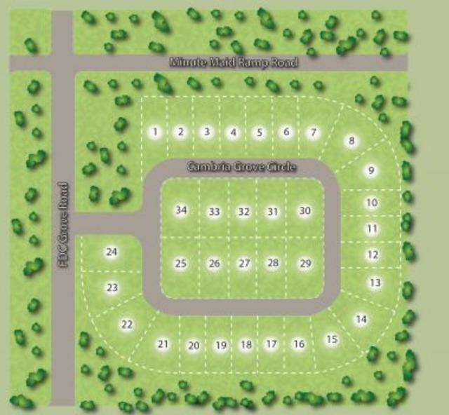 Site map of homes in Cambria Davenport